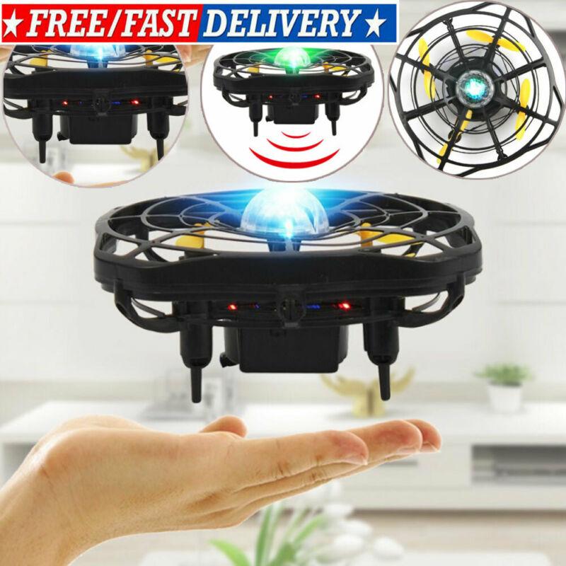 Mini Drone Quad Induction Levitation UFO LED Light USB Charging Kids Flying Toys