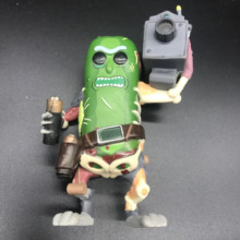 лучшая цена Rick and Morty & PICKLE RICK WITH LASER action Figure Collection pvc Model toys for children's gift NO BOX