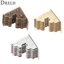 DRELD 10 шт. антикварная мебель металлические изделия шкатулка угловая ножка Деревянный чехол протектор для углов декоративный угол 25 мм