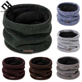 Evrfelan, новинка, одноцветная одежда для шеи, мужские теплые шарфы, вязаный хлопковый шарф, женские зимние аксессуары для шеи, унисекс шарф, оптовая продажа
