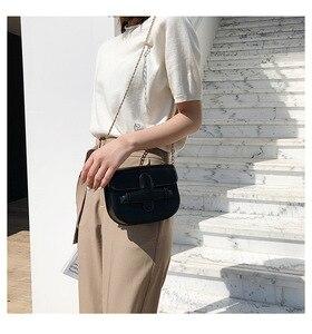 Image 3 - JIULIN 2019 新しい潮クロスベルト夏チェーンシングルショルダーバッグファッション傾斜小さな正方形のバッグ