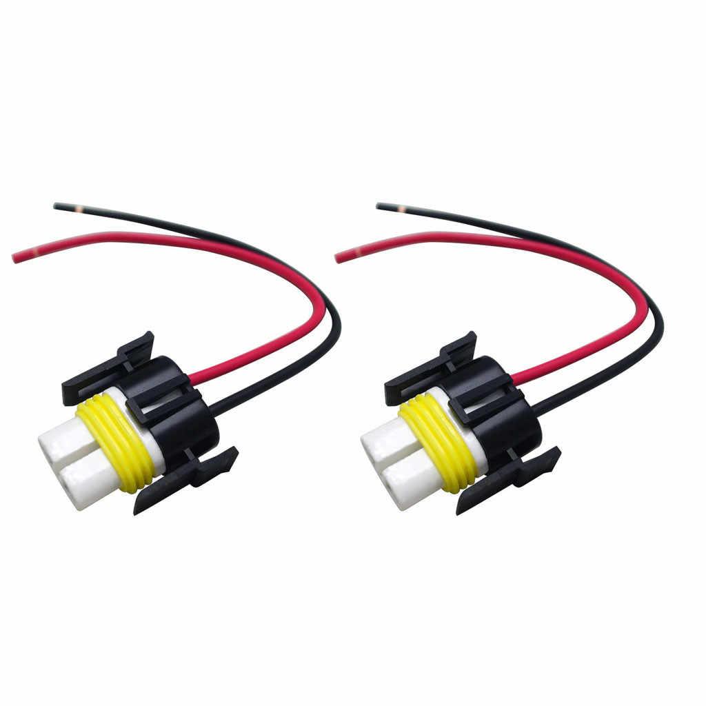 1 Buah/2 Buah H8 H11 Soket Bohlam Lampu Kabut Mobil Keramik Adaptor Auto Lampu Bohlam Konektor Dudukan Lampu adaptor Mobil Aksesoris # BL30