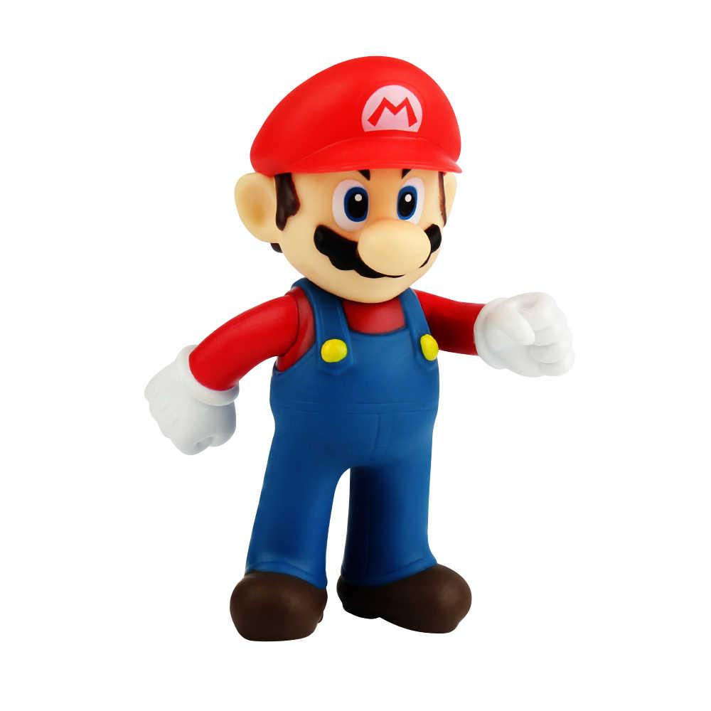 12cm Super Mario Bros Mario PVC Action Figures Toys for Kids