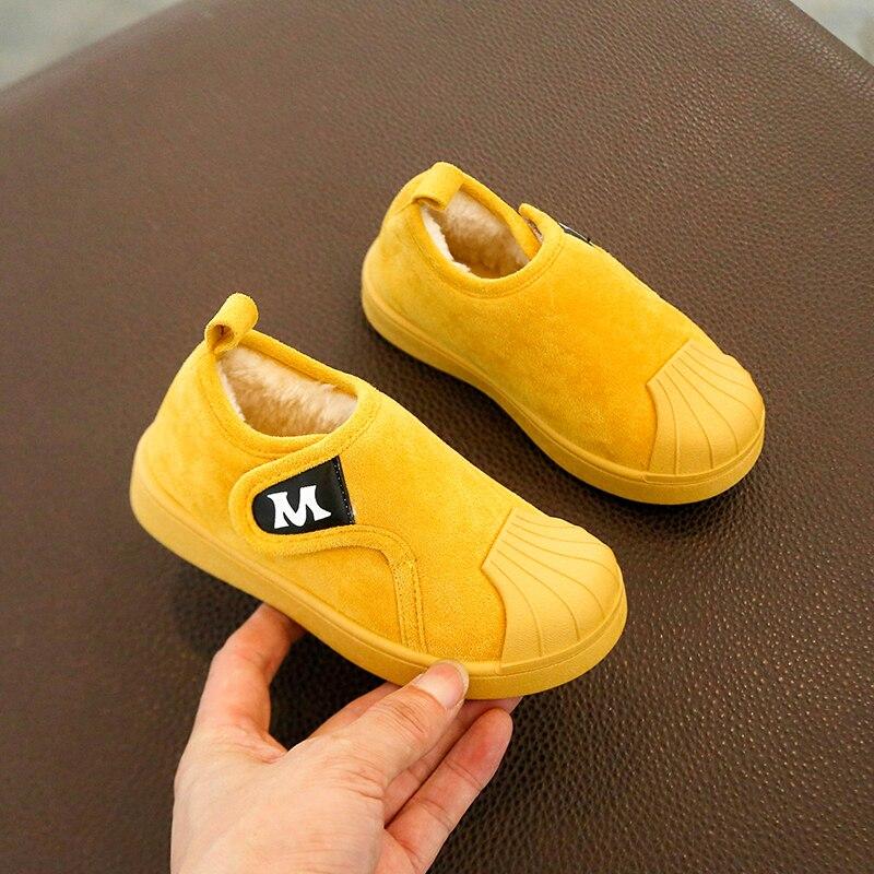 2019 детские зимние ботинки для девочек и мальчиков, теплые плюшевые уличные детские ботинки, Детская Хлопковая обувь для первых шагов