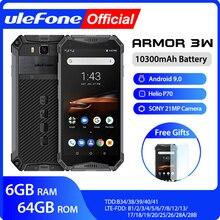 Smartphone ulefone armor 3w robusto, celular à prova d água, android 9.0, helio p70, 6 gb + 64g, nfc, versão global smartphone 4g lte