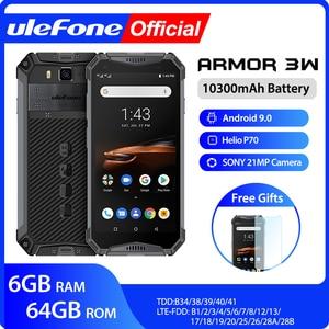 Image 1 - Ulefone درع 3 واط مقاوم للماء وعرة الهواتف المحمولة أندرويد 9.0 هيليو P70 6G + 64G NFC الإصدار العالمي 4G lte الهاتف الذكي