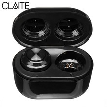 CLAITE Mini A6 TWS Wireless bluetooth Earphone Button HD Wireless HiFi Stereo Denoise Music Earbuds Waterproof Headsets with Mic(China)