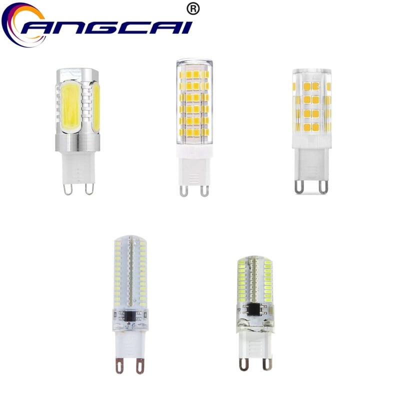 Angcai G9 LED 220V 4W 5W 7W 8W Bulb Lamp 700LM SMD 5050/2835/3014 COB For Chandeliers Home Fan Lighting Warm Pure White