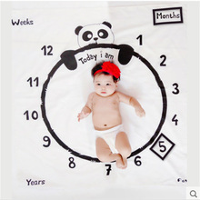 Blanket Photography Newborn Props Baby Milestone 12-Monthly Peach-Skin Panda-Background