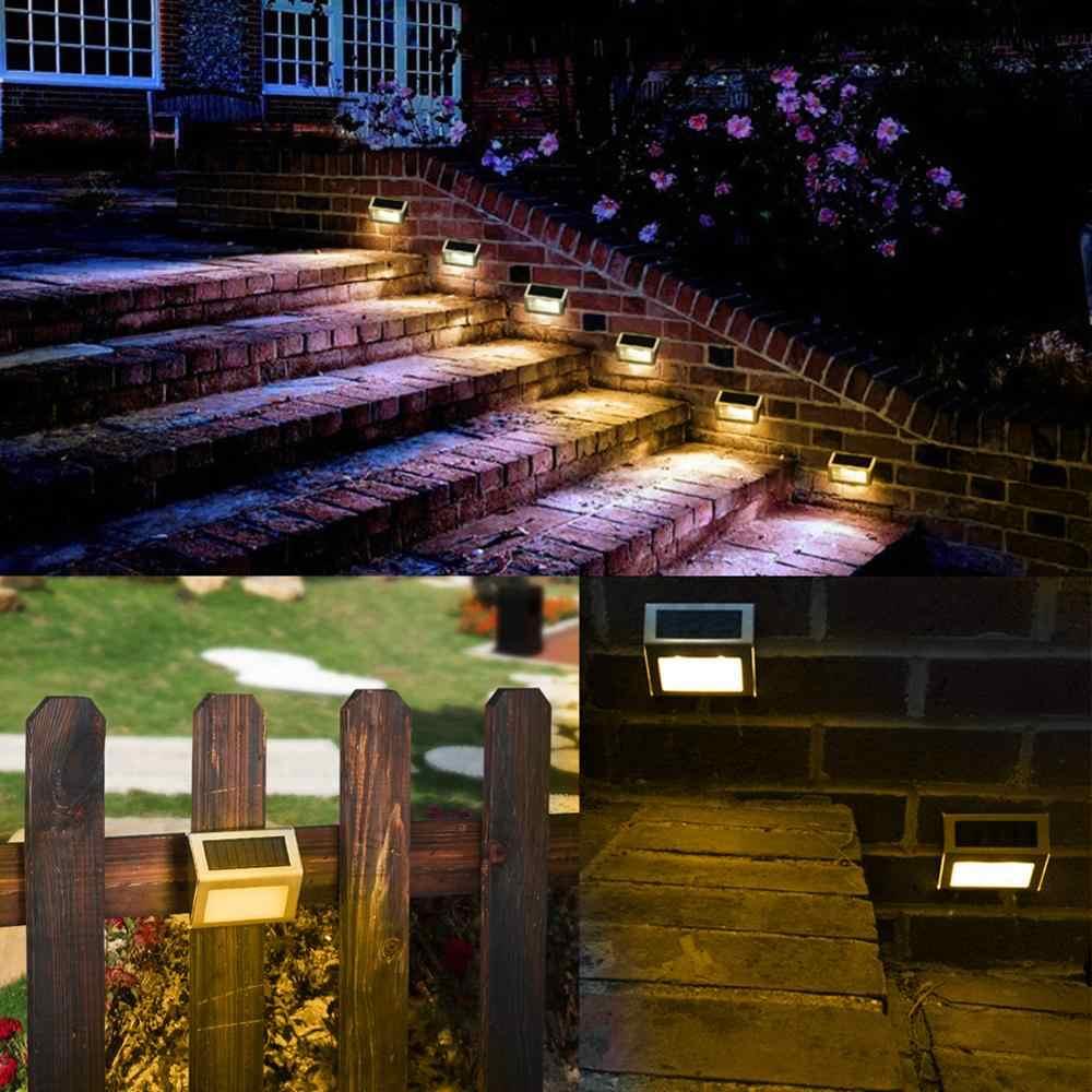 1-4 Uds. 3LED lámpara de pared Solar al aire libre impermeable energía Solar luz para valla de jardín patio camino cerca de pared Luz de jardín
