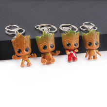 Rongji jewelry Guardians of the galaxy i am Groot Keychain Keyring Avengers marvel thor axe key men women Jewelry Accessories