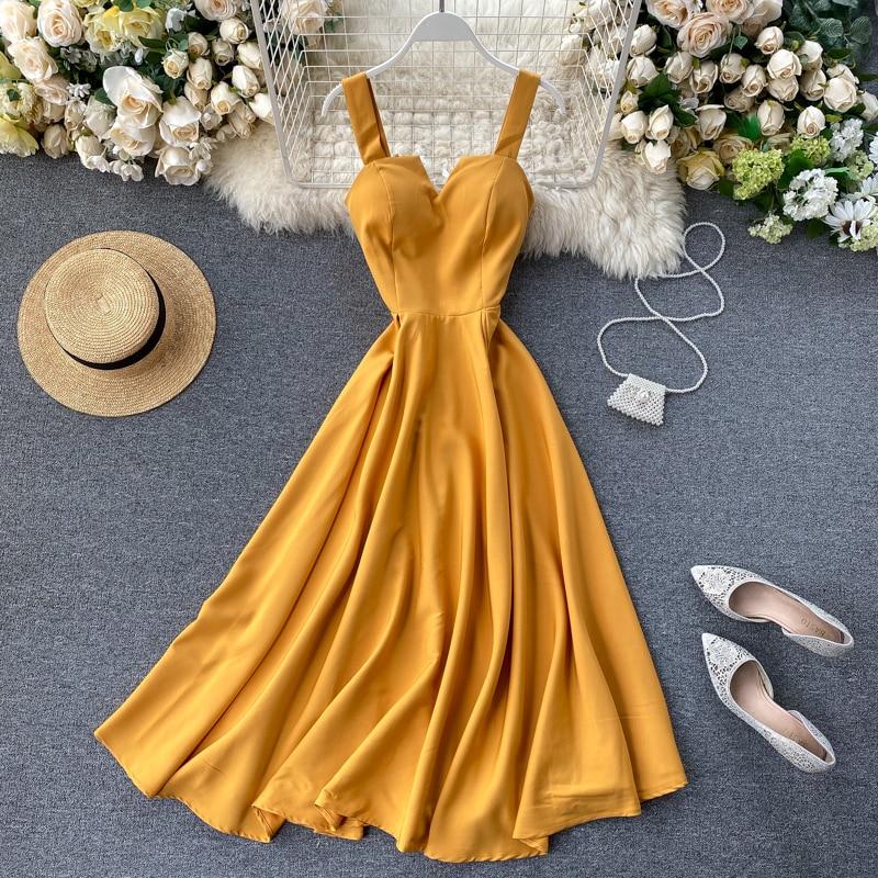 Elegant Vintage Sleeveless V-Neck Bandage Dress 7