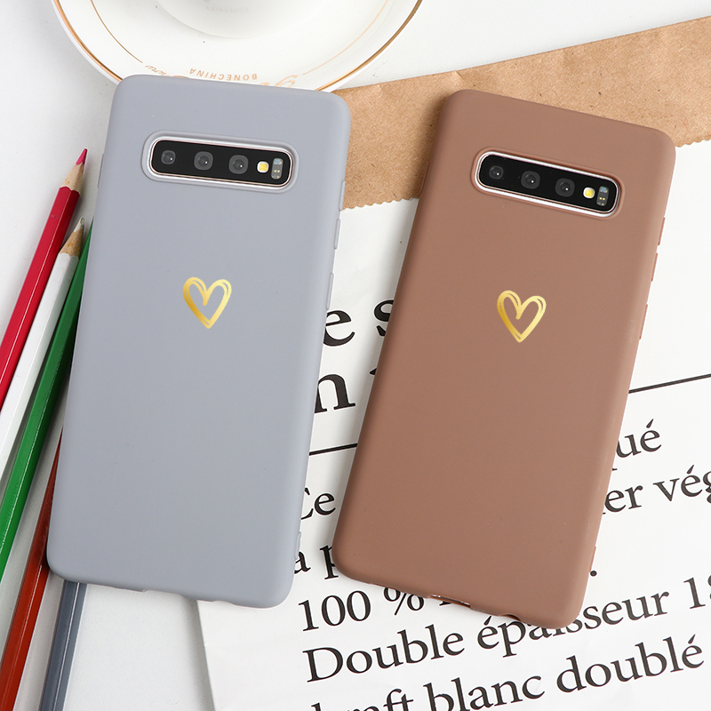 <font><b>Gold</b></font> Love TPU <font><b>Cases</b></font> For <font><b>Samsung</b></font> Galaxy A20e A51 A71 A70 A60 A50 A40 A30 Note 10 Pro 8 9 5 S20 Ultra S8 S9 S10 Plus <font><b>S7</b></font> Edge <font><b>Case</b></font> image