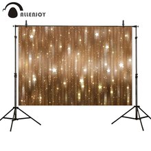 Allenjoy Christmas photophone backdrop golden bokeh glitter new year stars children photography background for photo studio