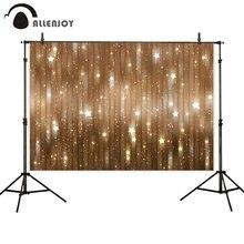 Allenjoy natal photophone pano de fundo dourado bokeh glitter ano novo estrelas crianças fotografia fundo para estúdio foto