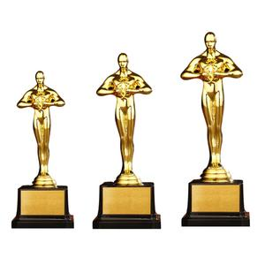 Gold Award Trophy Gold Plated Small Gold Statue for Trophy Awards and Party Celebrations Award Ceremony 4