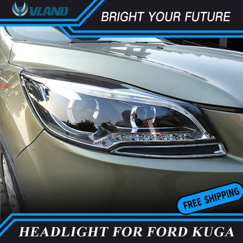 Car LED Strip Head Lamp LED Turn Light for Ford KUGA Headlight 2013 2014 2015