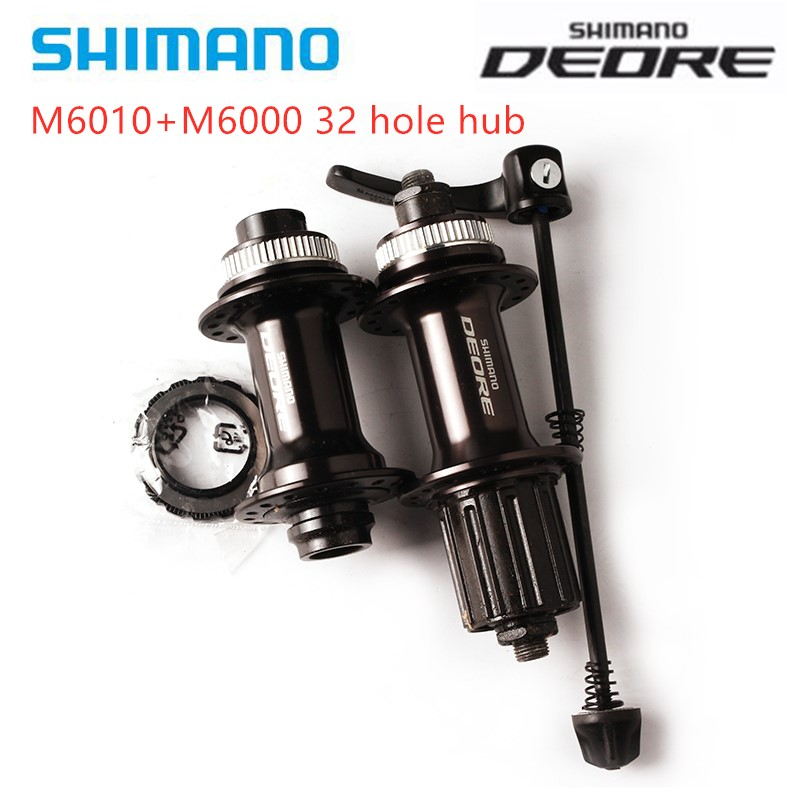 SHIMANO Deore M6010 M6000 <font><b>Hub</b></font> <font><b>32</b></font> Holes for 7/8/9/10/11 speed MTB Bike Bicycle Front Rear <font><b>Hub</b></font> Quick Release 32H Center Lock image