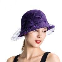 Elegant Church hat Derby or Wedding Hat Wool Felt Cloche Wool Felt Lady Fashion Hats Winter Hat W10 4031