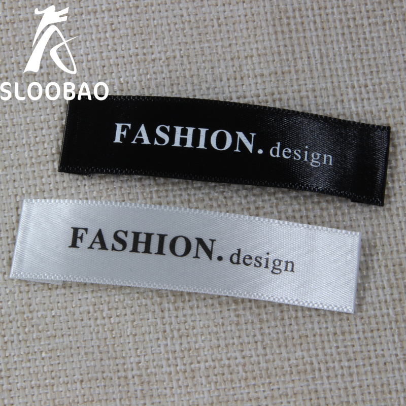 Customized Satin Label Main Label White Washable Name Labels Garment Fabric Tags Marker Set For Clothes Sewing Accessories