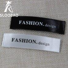 Dostosowana satynowa etykieta główna etykieta biała zmywalna nazwa etykiety tkanina odzieżowa tagi zestaw markerów na ubrania akcesoria do szycia