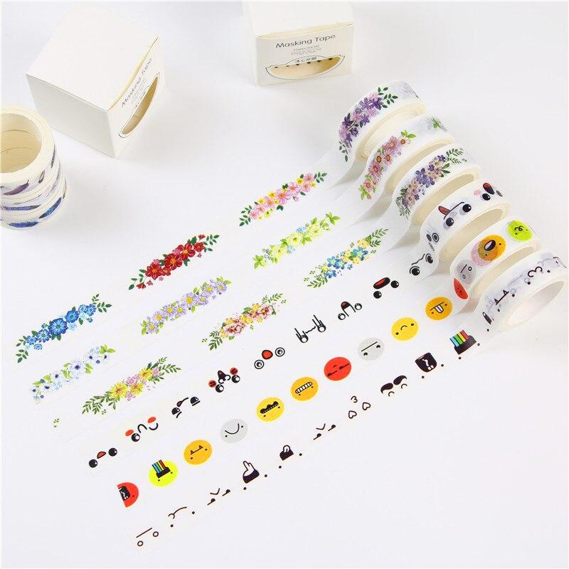 3 Rolls Washi Masking Tape Set Petal Animal Flower Paper Washi Tape 15mm x 5m