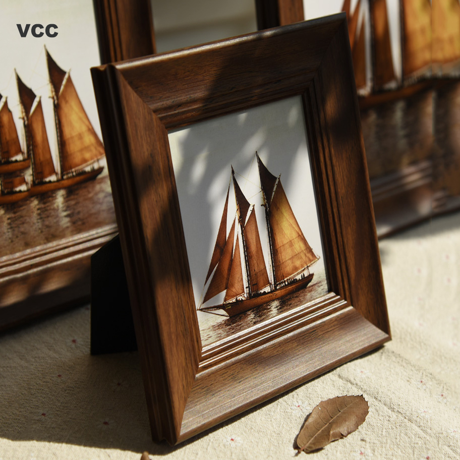Retro Nature Wooden Picture Frame Photo Wood Wall Hanging Poster Frames For Pictures Art