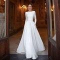 Скромные белые вечерние платья с длинным рукавом и вырезом лодочкой, длинные платья с поясами в пол, платья макси для особых случаев