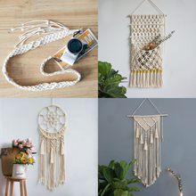 Hanging tapestry wall hanging rug yoga boho style on the wall