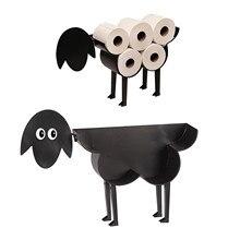 Ornaments Roll-Holder Toilet-Paper Iron-Storage Holderbathroom Sheep Crafts