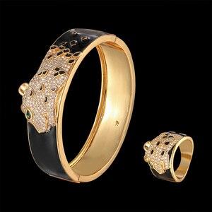 Luxury animal bangle and ring