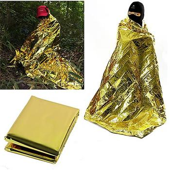 Waterproof First Aid Emergency Thermal Keep Warm Outdoor Survival Foil Blanket fOR OUTDOOR HOME CAMPING HIKING FISHING HUNTING image