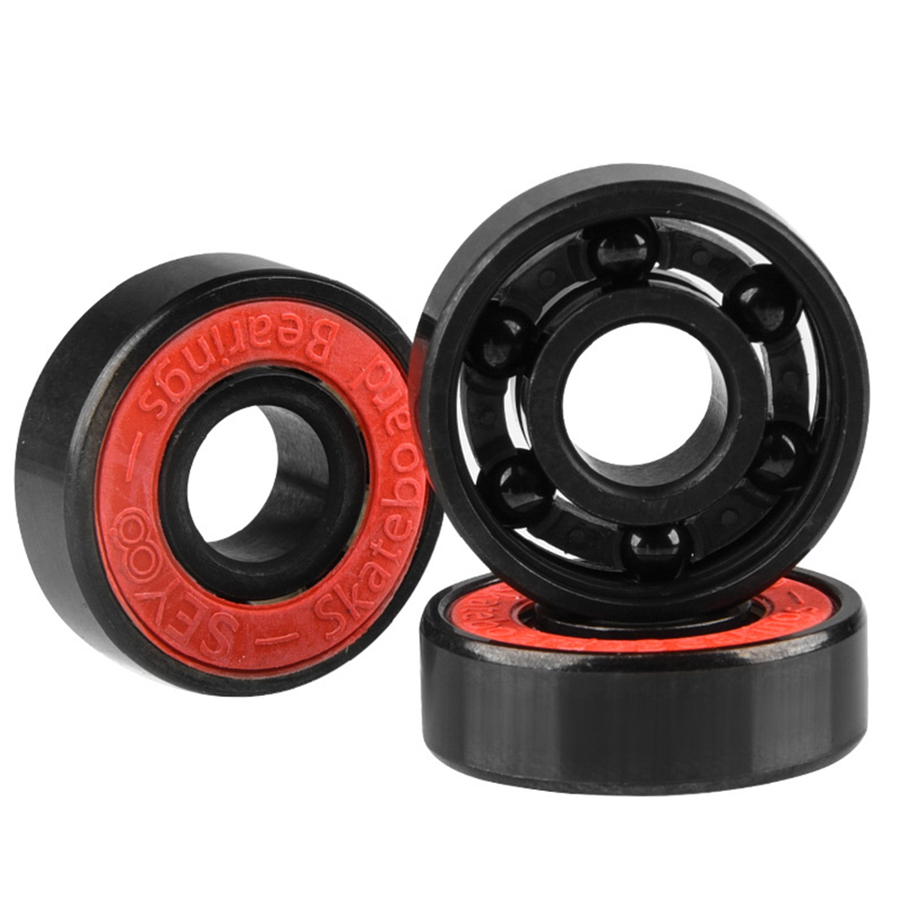 Skateboard Bearing Wheels High Hardness 1pc Ceramic Alloy Inline Speed Black 608 Ball Bearing For Finger Spinner Wear Resistant