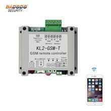 Controlador de acesso do interruptor do controlador do relé remoto gsm KL2 GSM T com 2 saída de relé um sensor de temperatura ntc