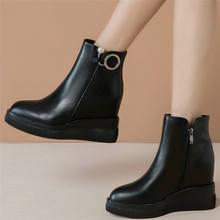 Туфли женские из натуральной кожи высокие туфли лодочки заостренный