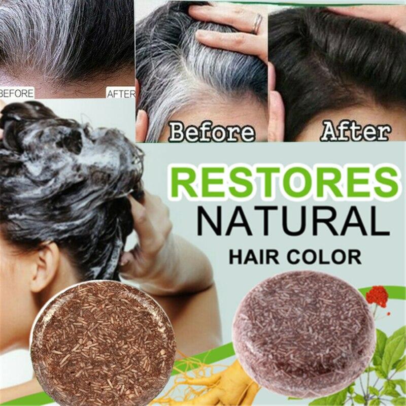 1pcs hair darkening shampoo natural organic conditioner and repair fast darkening