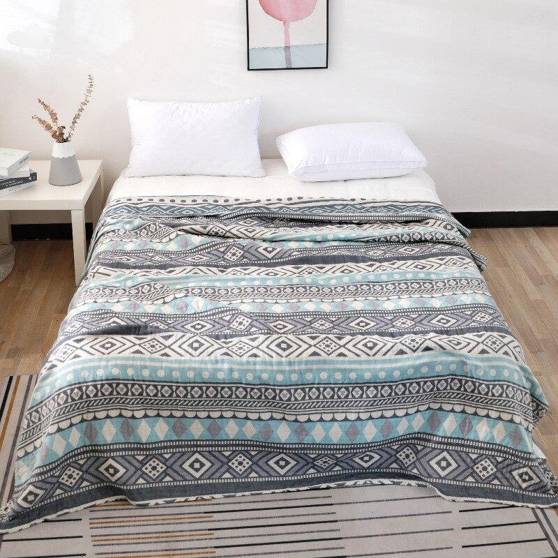 Junwell, 100% хлопок, муслиновое летнее одеяло, Марлевое покрывало для кровати, дивана, шикарное многофункциональное одеяло с мандалой, дышащее одеяло для путешествий|Одеяла|   | АлиЭкспресс