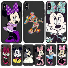 Mickey Mouse Minnie Custom For iPhone X XR XS Max 5 5S SE 6 6S 7 8 Plus phone Case Cover phone Funda Coque Etui Luxury cartoon(China)