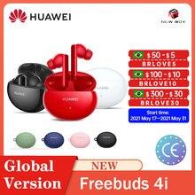 Huawei FreeBuds 4i Globale Version Reinen klang qualität Aktive Geräuschunterdrückung Einheit ANC 5,2 Drahtlose Bluetooth Drahtlose Kopfhörer