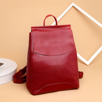 High Quality Pu Leather Backpacks Women Shoulder Bag Fashion Ladies School Bags for Teenage Girls Casual Small Laptop Travel Bag