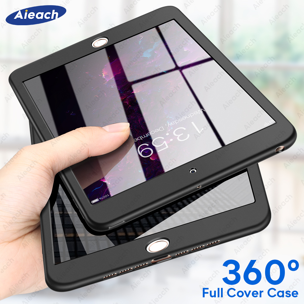 360 Full Cover Case For IPad 2019 2018 2017 Case With Screen Protector Soft Funda For IPad 10.2 7th 9.7 6th 5th Generation Case