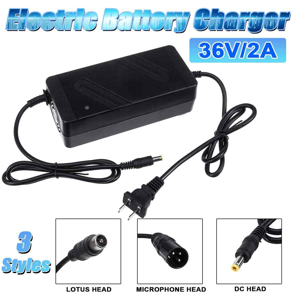 54.6V 2A charger Microphone head for 48V E-bike electric bicycle Li-ion battery