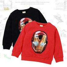 Детская одежда Одежда для мальчиков и девочек с героями мультфильмов, свитер, футболка модное пальто горячая Распродажа года, качественная одежда для детей возрастом от 2 до 8 лет