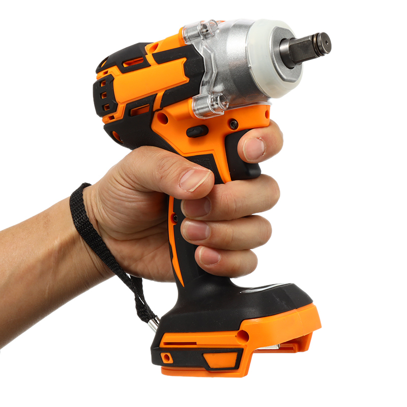 18V Impact Wrench Brushless Cordless Electric Wrench Power Tool 240-520N.m Torque Adjustable Rechargeable For Makita Battery