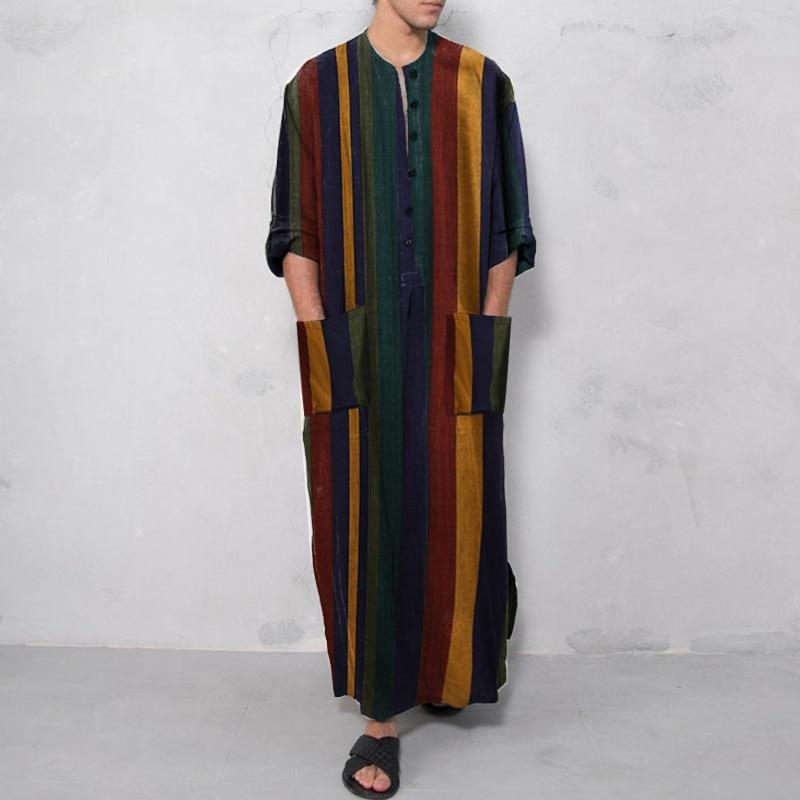 Muslim Robe Hoodies Kaftan Dressing Mens Saudi Arab Dubai Long Sleeve Thobe Arabic Long Islamic Jubba Thobe Man Clothing 2020 Men Men's Clothings Men's Kaftan cb5feb1b7314637725a2e7: Beige|Coffee|Navy|black