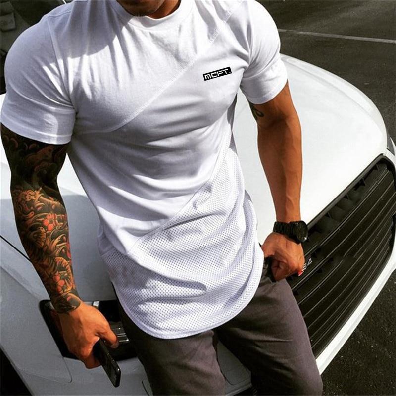 New 2019 Extend Hip Hop Street T-shirt Men Fashion Brand T Shirts Fitness Men Summer Short Sleeve Oversize Gyms Clothing