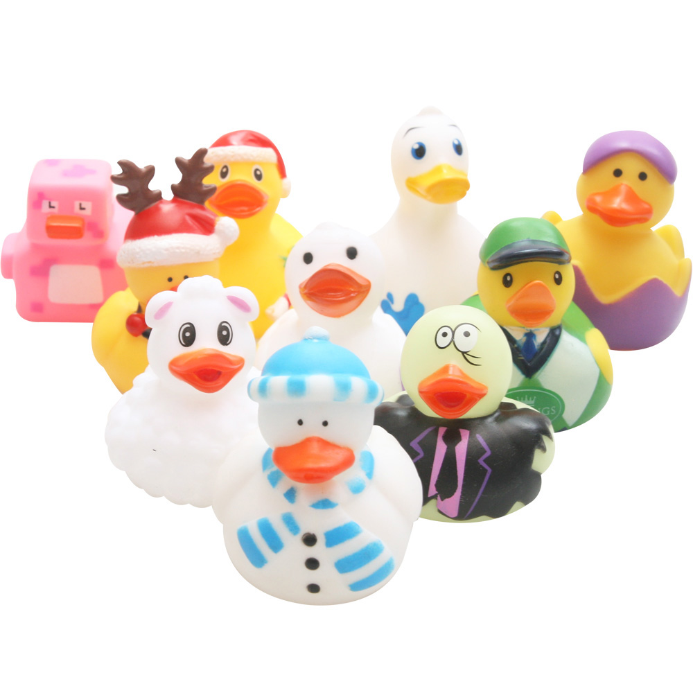 New Rubber Bath Duck Toy Baby Bath Cute Little Yellow Duck Bathroom Bath Floating Water Toy Swimming Pool Game Toy
