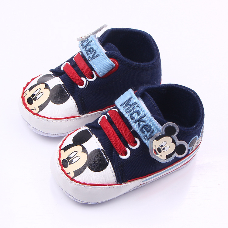 First Walker Baby Shoes Foreign Trade Selling Mickey Mouse Babyshoes Baby Non-slip Magic Stickers Toddler Baby Shoes