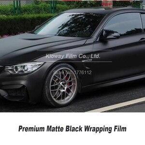 Image 3 - Высококачественная матовая Черная Виниловая пленка, черная оберточная пленка для автомобиля, матовая Черная Виниловая пленка с низким начальным клеем, гарантия качества