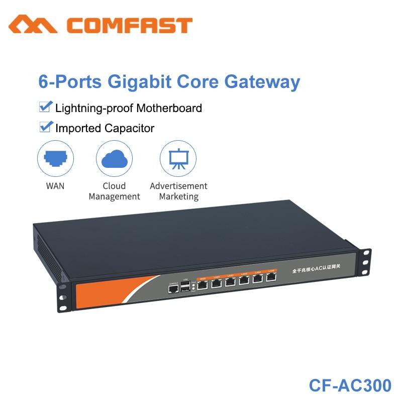 Gigabit 6 Port Gigabit AC Wifi Load Balancing Gateway Routing Core Gateway  Multi Gigabit WAN LAN Wi Fi AC Roaming Access Router